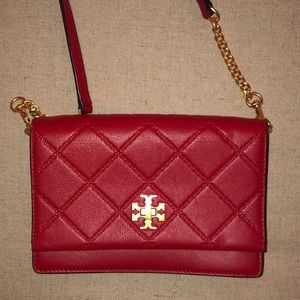 Tory Burch red quilted crossbody